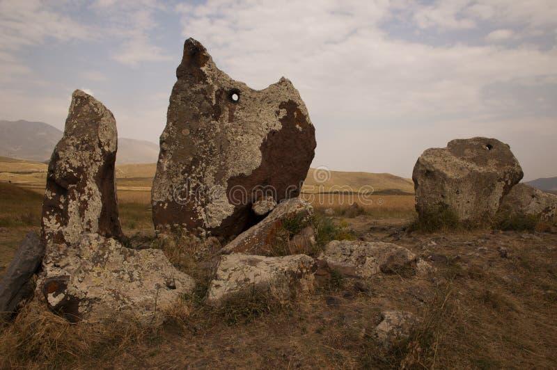 Armeense Stonehenge van Zorats Karer, Armenië stock foto