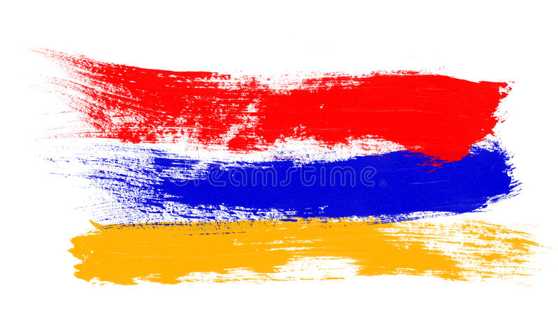 Armeense Vlag royalty-vrije illustratie