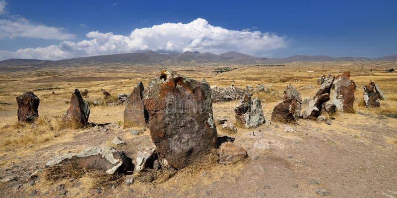 Armeense voorhistorische Stonehenge royalty-vrije stock afbeeldingen