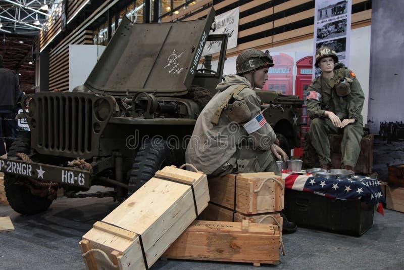 Armeewiederherstellung des Zweiten Weltkrieges lizenzfreie stockbilder