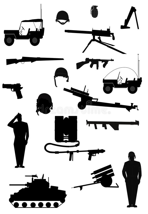 Armements militaires illustration de vecteur