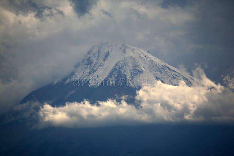 Armenië. Grotere Ararat van het klooster van Khor Virap stock fotografie
