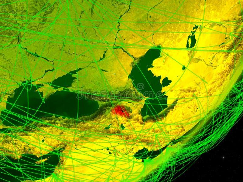 Armenië op digitale Aarde stock illustratie