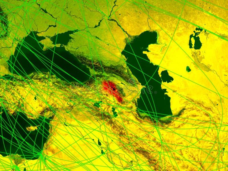Armenië op digitale kaart vector illustratie