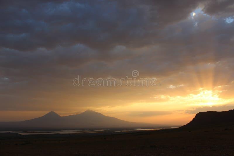 Armenia ararat granice górski indyk wiosny obraz stock