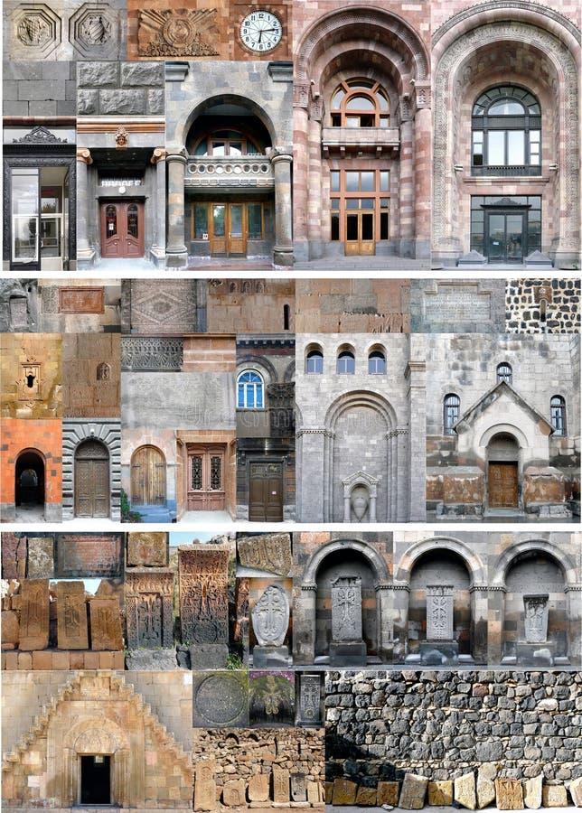 armenia architektoniczni czerepy zdjęcie royalty free