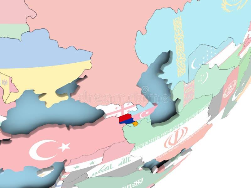 Armenia con la bandera ilustración del vector