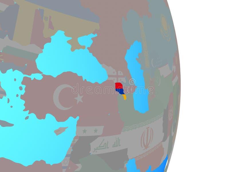 Armenia con la bandera en el globo libre illustration