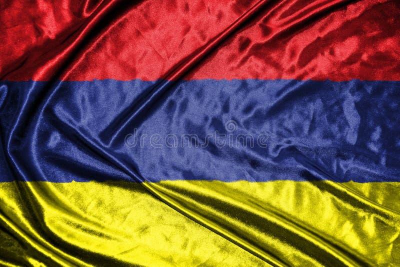 Armenia flag.flag on background.  stock illustration