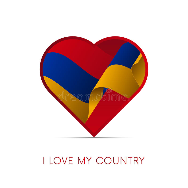 Armenia flag in heart. I love my country. sign. Vector illustration. vector illustration