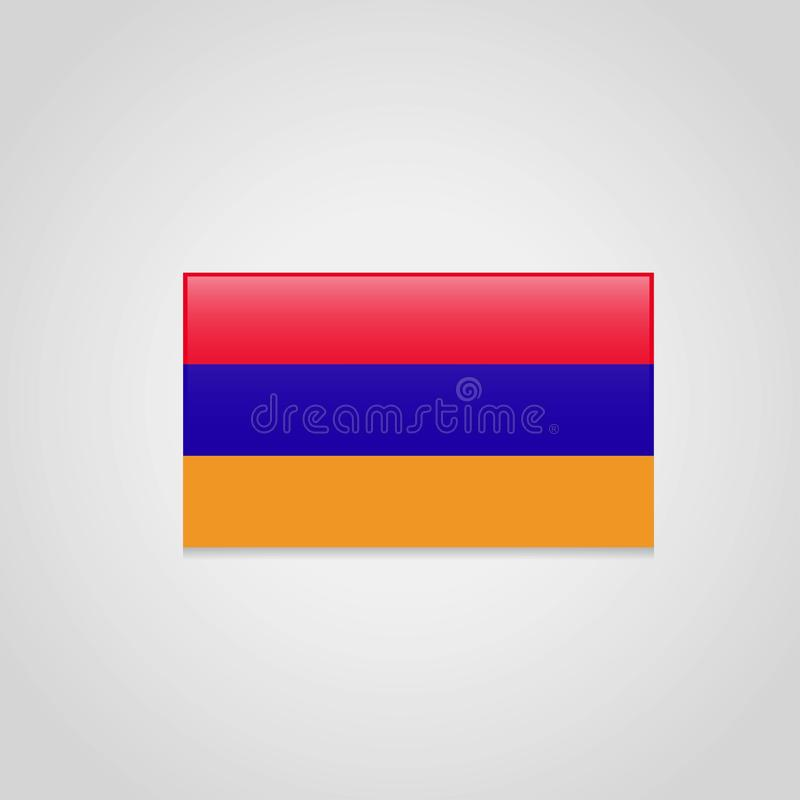 Armenia Flag Vector. Vector EPS10 Abstract Template background royalty free illustration