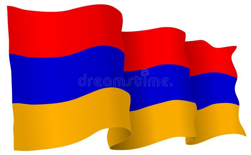 Armenia Flag Waving Vector Illustration vector illustration