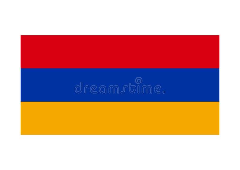 armenia flagga vektor illustrationer