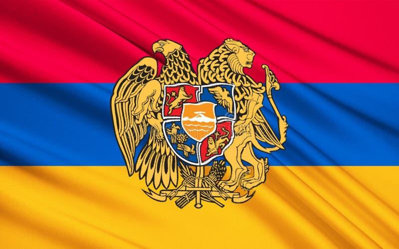 armenia flagga royaltyfria bilder