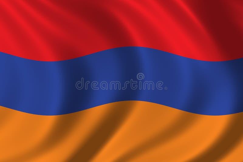 armenia flagga royaltyfri illustrationer