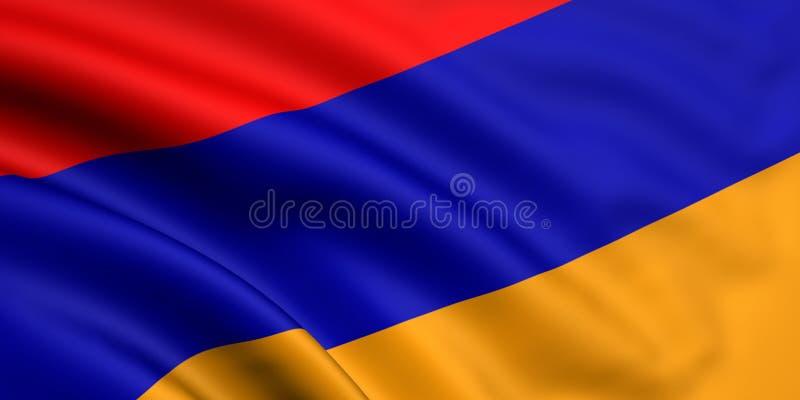 armenia flagga stock illustrationer