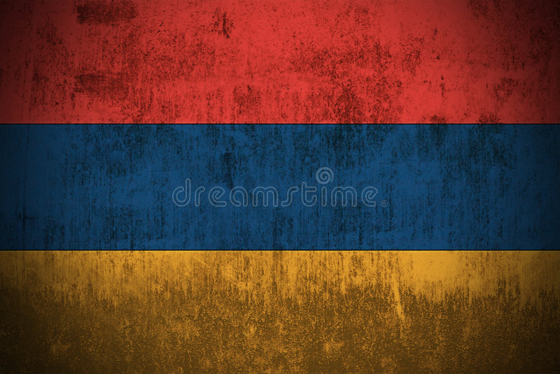 armenia flaggagrunge arkivbilder