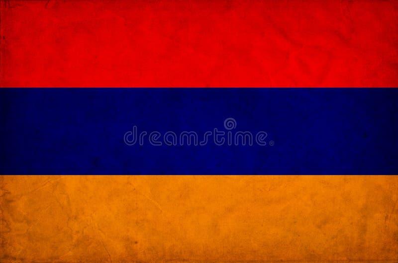 Armenia grunge flag stock illustration
