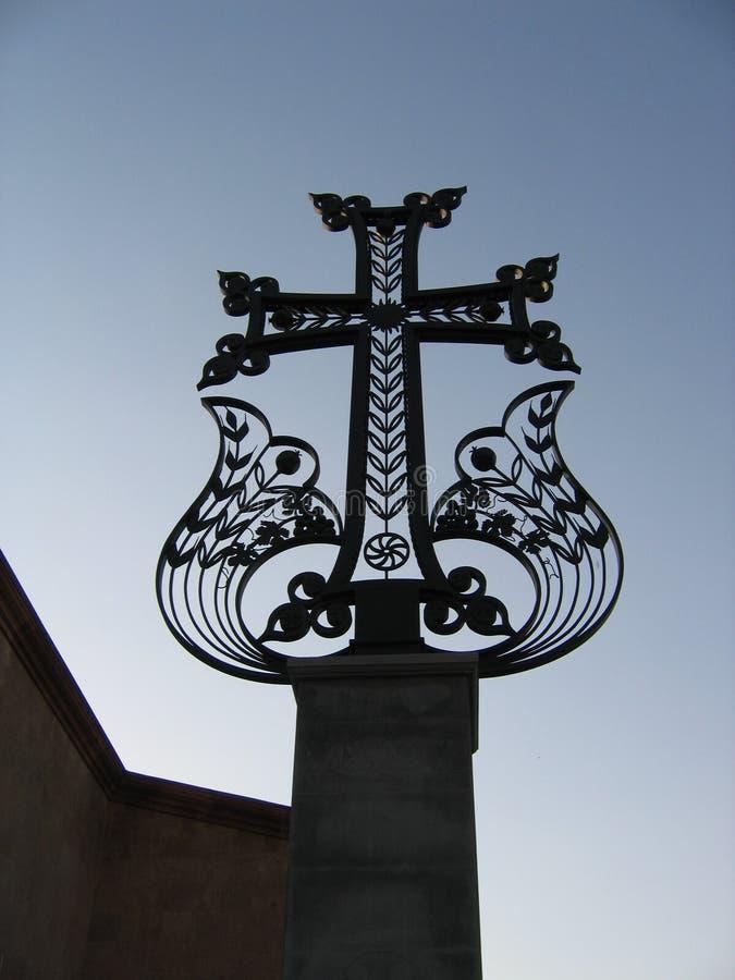 armenia härligt kors yerevan royaltyfria bilder