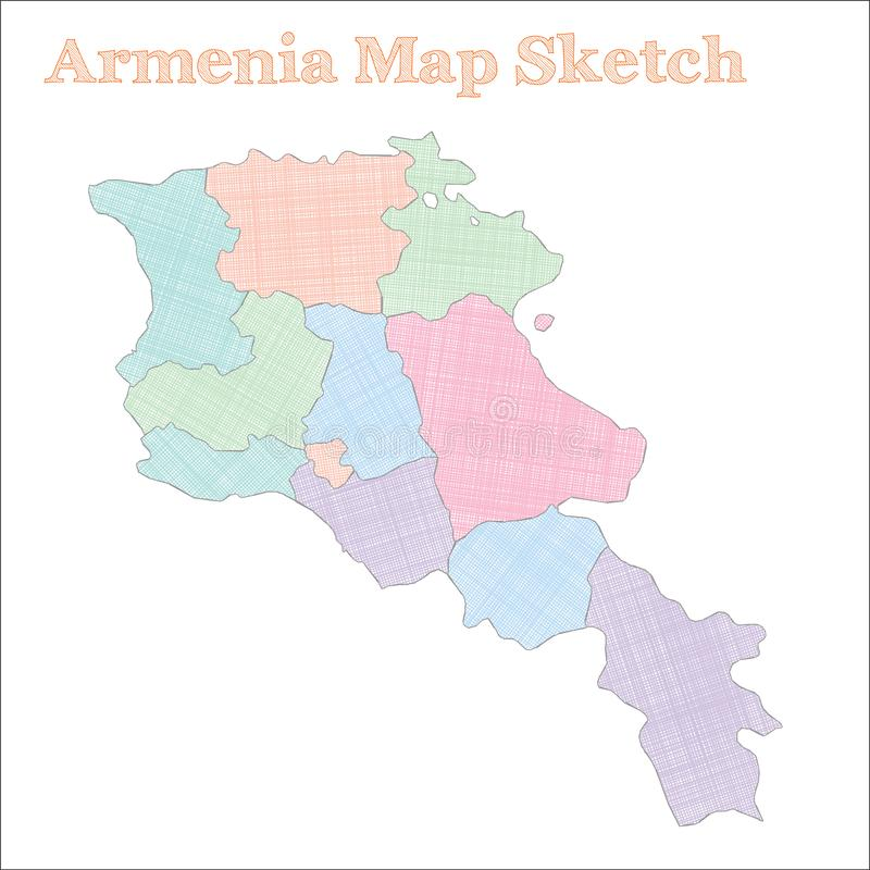 Armenia mapa ilustracja wektor