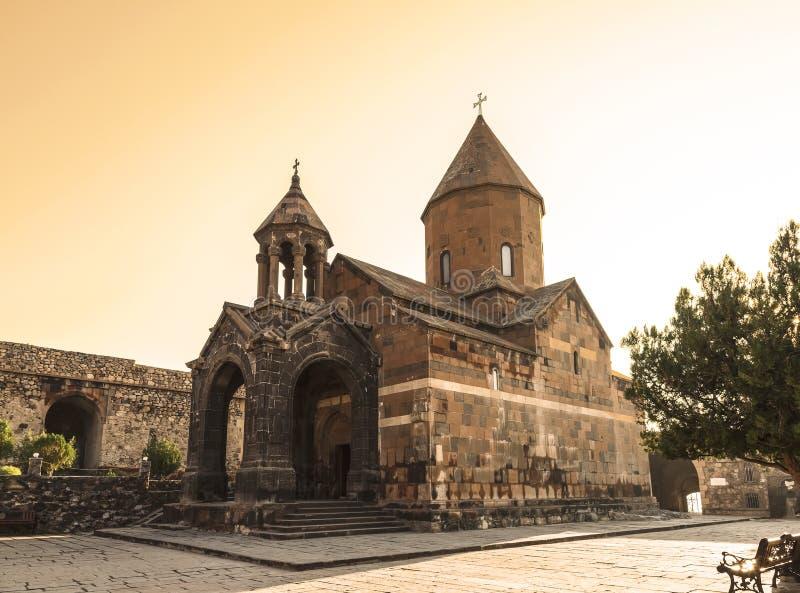 Armenia, valle de Ararat, monasterio de Khor Virap, iglesia de la Virgen María del St Astvatsatsin imagenes de archivo