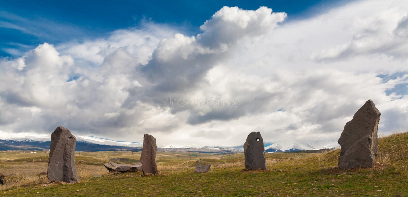 Armenia Zorats Karer fotografia stock