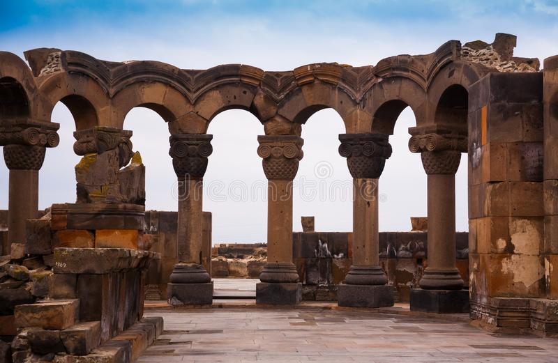armenia ¡Zvartnots! imágenes de archivo libres de regalías