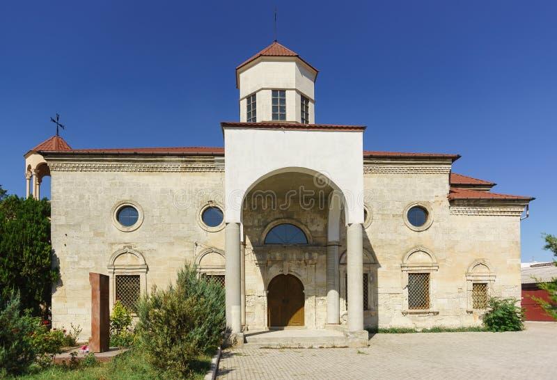 Armenian Apostolic Church of St. Nikogayos of the XIX century at 44 Internatsionalnaya street. In Evpatoria royalty free stock photo