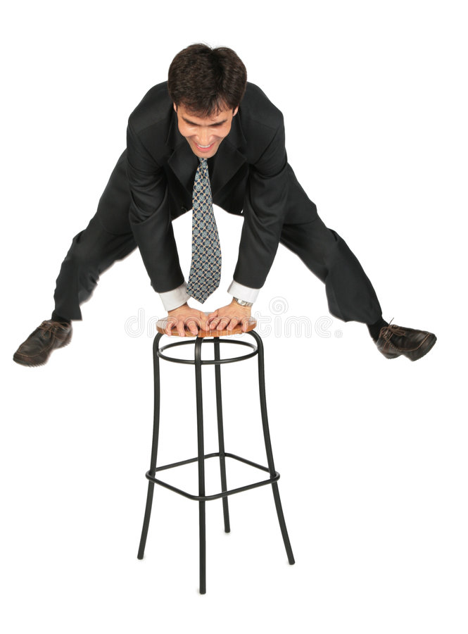 Download Armenian Businessman Jumps Above  Stool Stock Photo - Image: 6196864
