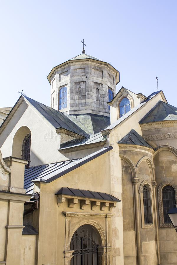 Armenian Cathedral in Lviv royalty free stock photos