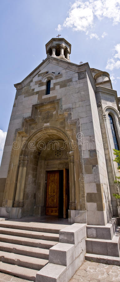 The Armenian church stock image