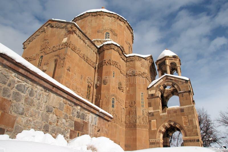 Armenian church at Akdamar, Turkey stock images