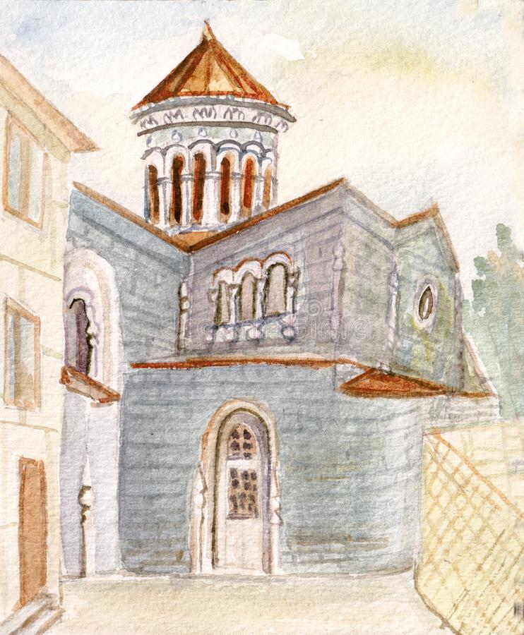 The Armenian church stock illustration