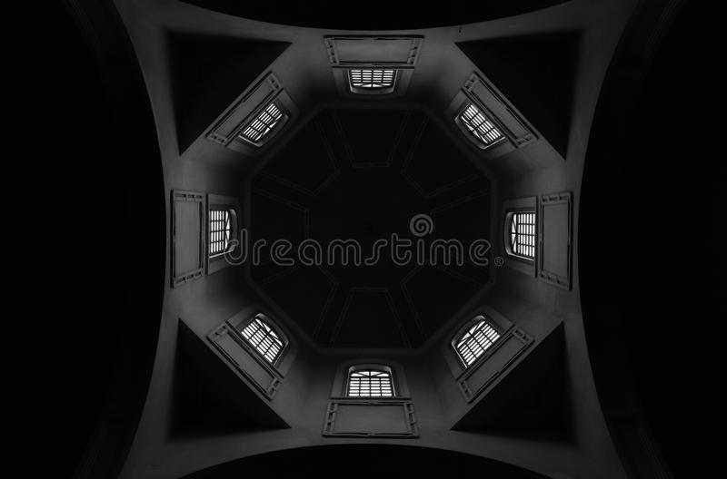 Armenian church interior. White and Black photography royalty free stock photos