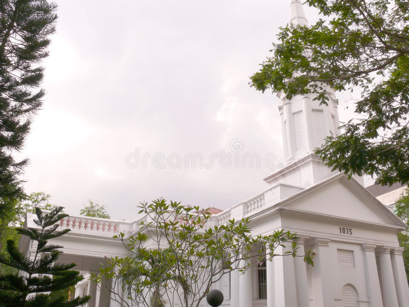 Armenian Church in Singapore stock photo
