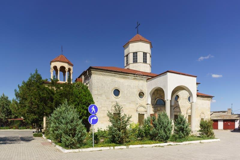 Armenian Church of St. Nikogayos on 44 Internatsionalnaya street. on the territory of the home for the elderly and disabled. St. Nikogayos Armenian Church on 44 stock image
