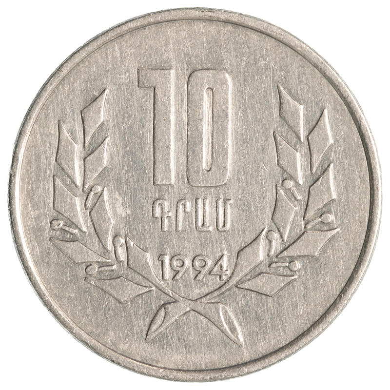 10 Armenian dollars coin stock images
