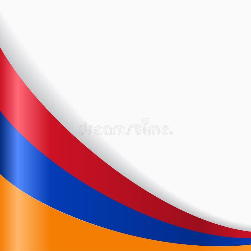 Armenian flag background. Vector illustration. stock illustration