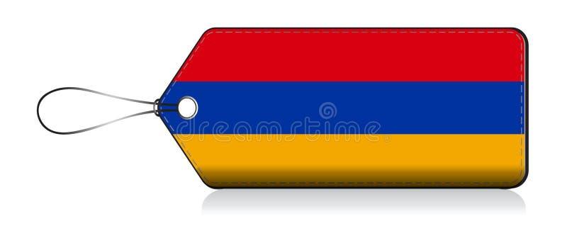Armenian flag leble, Made in Armenia vector illustration