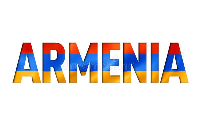 Armenian flag text font royalty free illustration