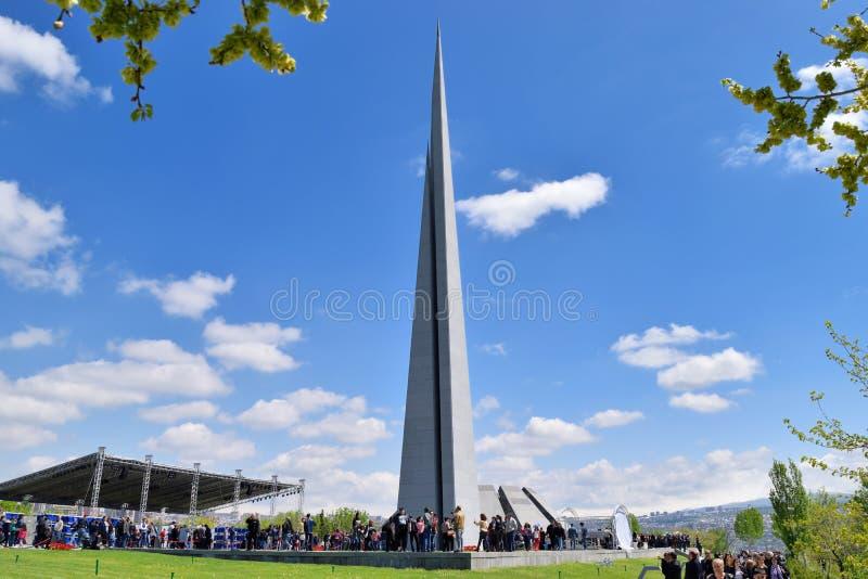 The Armenian Genocide memorial complex stock photos