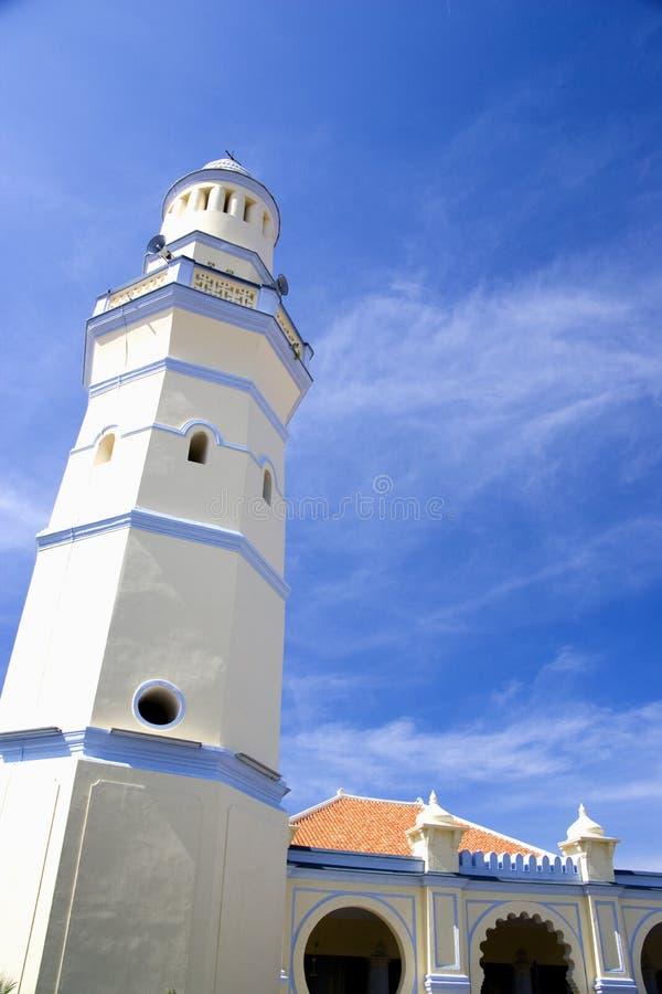 Armenian Street Mosque. Minaret of the old Armenian Street Mosque at Penang, Malaysia royalty free stock photo