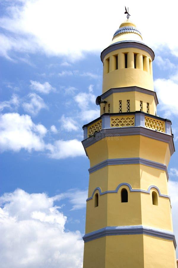 Armenian Street Mosque. Minaret of the old Armenian Street Mosque at Penang, Malaysia stock images