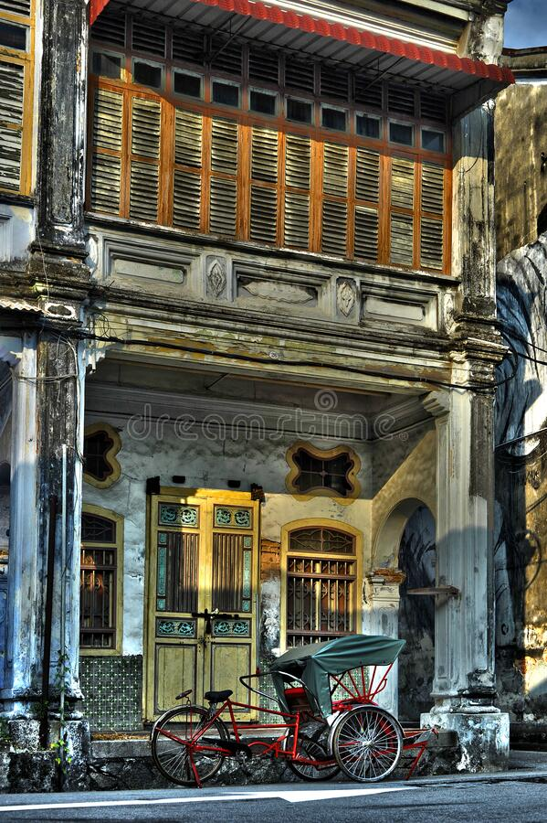 Armenian Street, one of Penang heritage street and tourist attraction, street scenes in the. Penang, Malaysia - January 21, 2020 : Armenian Street, one of Penang stock image