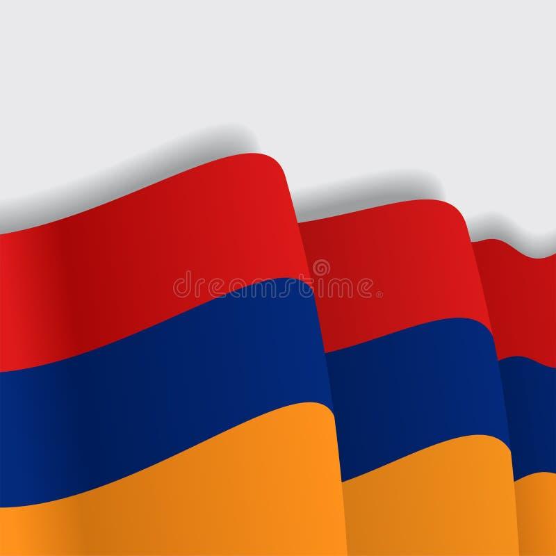 Armenian waving Flag. Vector illustration. stock illustration