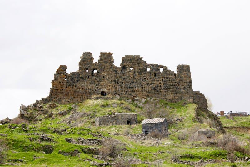 Armenien Ambert fästning royaltyfria bilder