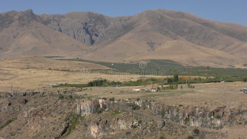 Armenien Aragatsotn landskap Höstfärger av Aramount arkivbilder
