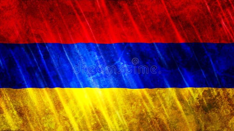 Armenien flagga royaltyfria bilder