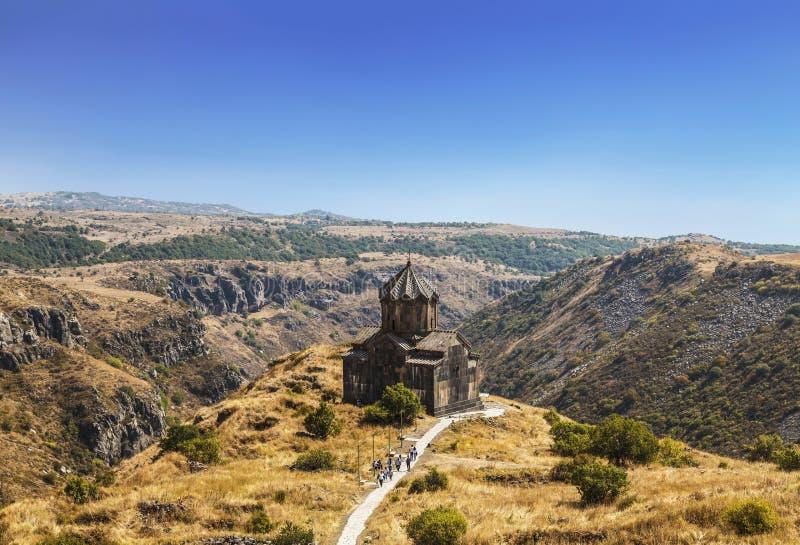 Armenien kyrka av den 11th heliga modern för århundradeSt Astvatsatsin av guden arkivbilder