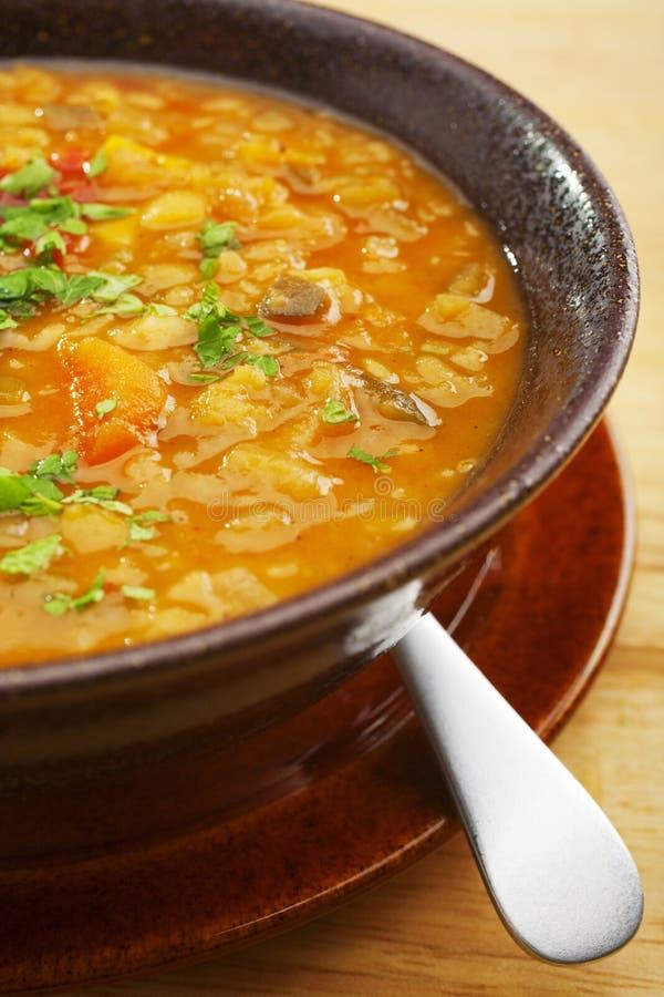 Armenio de la sopa vegetal de la lenteja imagenes de archivo
